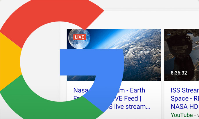 Google Search to support live streams with Indexing API, structured data